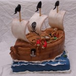 piratenschip taart