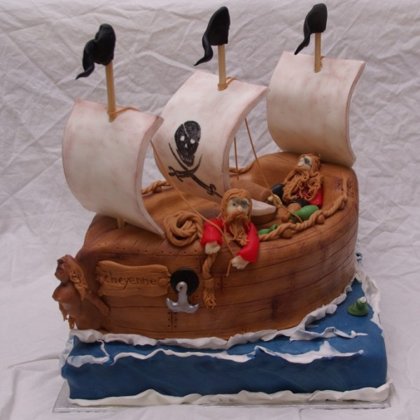 piratenschip taart taartenkunst rotterdam nesselande