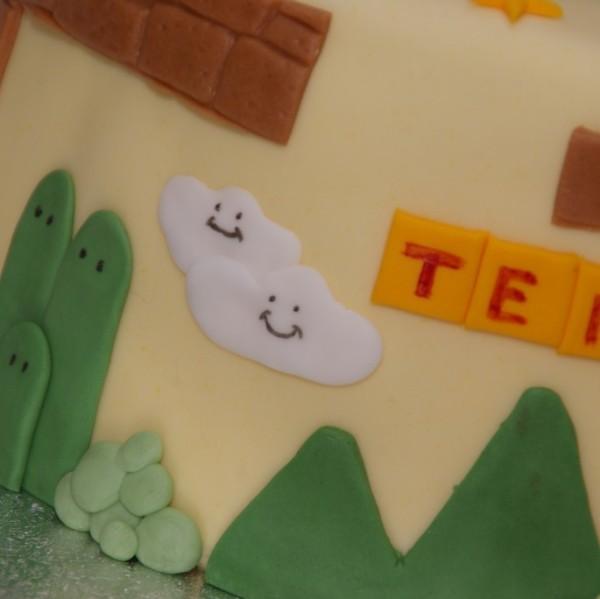 super mario game taart