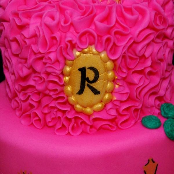 roze sweet sixteen taart
