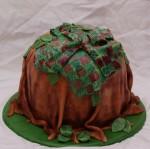 boomstam houthakkers hemd taart