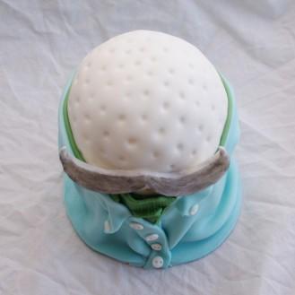 golfbal in overhemd taart
