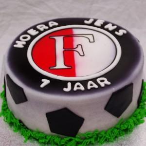 Feyenoord logo voetbaltaart