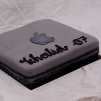 apple macbook taart