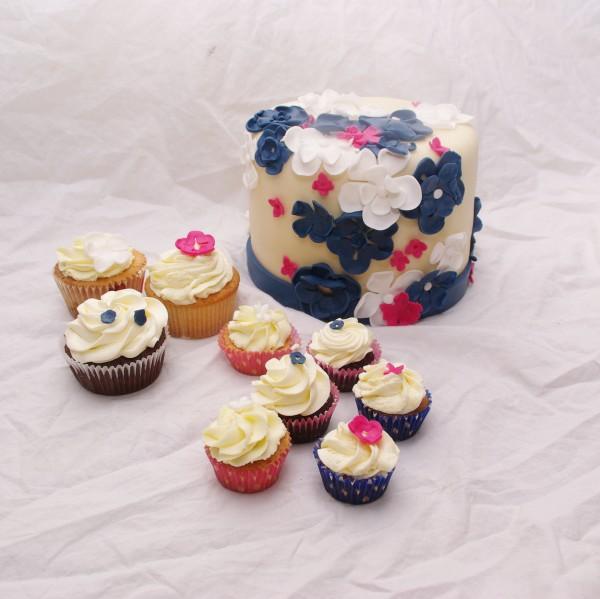 bruidscupcakes met diverse swiss meringue botercreme / mascarpone toeven