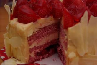 taartenkunst met aardbeien