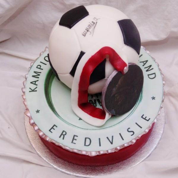 ajax voetbal taart