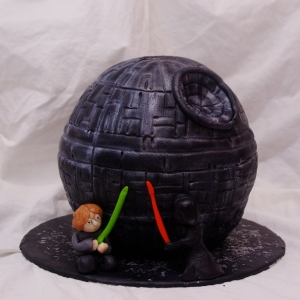 star wars death star taart