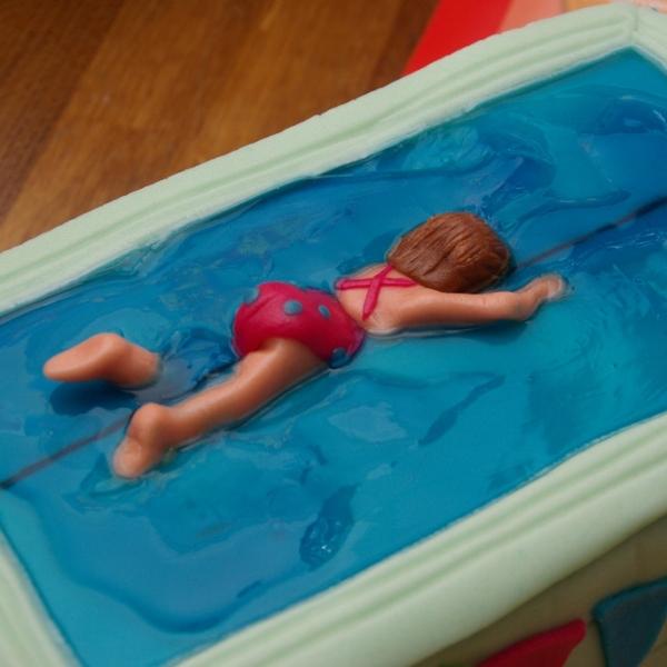 afzwemmen zwemdiploma A taart