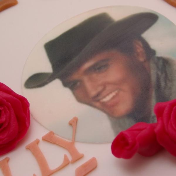 elvis presley eetbare foto print taart