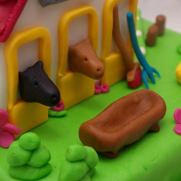 playmobil manege paarden taart