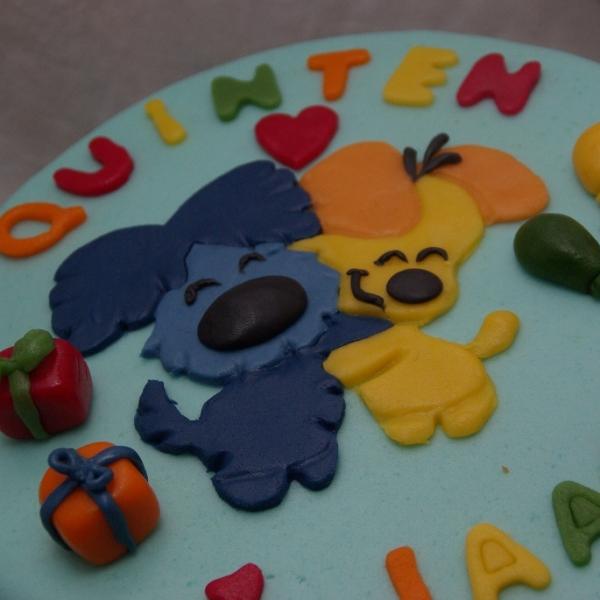 woezel en pip taart met puzzelplaatje