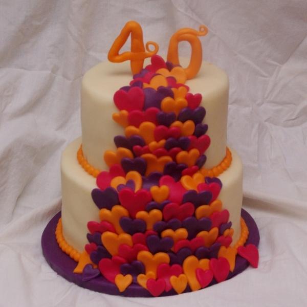 bruidstaart 40 jarig huwelijks jubileum