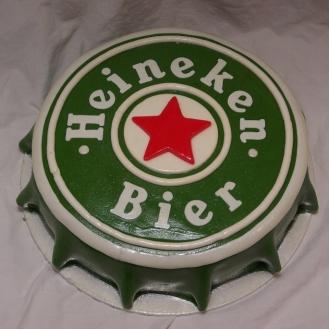 heineken kroonkurk taart