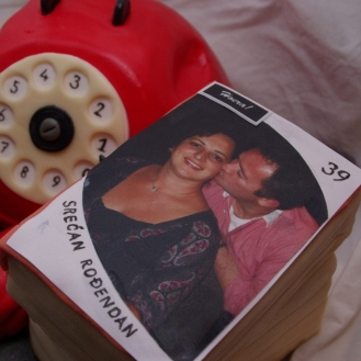 bouquet reeks telefoon taart