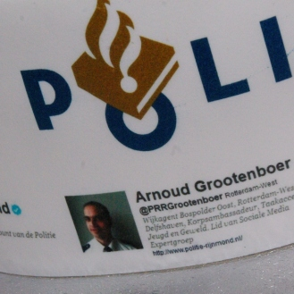 politie twitter social media taart