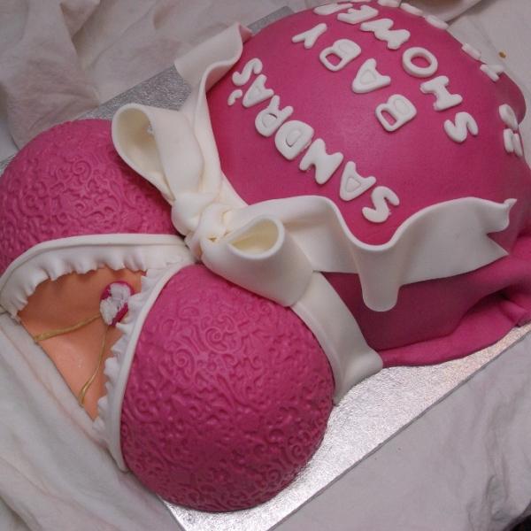 zwangerschap babyshower belly taart
