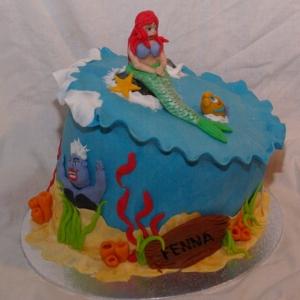 ariel de kleine zeemeermin taart