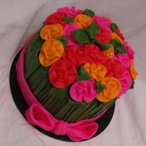 bosje bloemen taart TAART & kUNST rotterdam nesselande