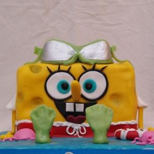 spongebob squarepants taart