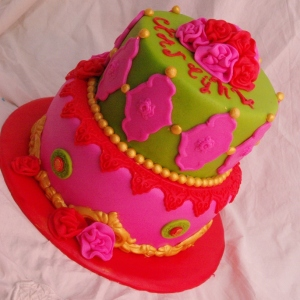 pip style/fel gekleurde taart