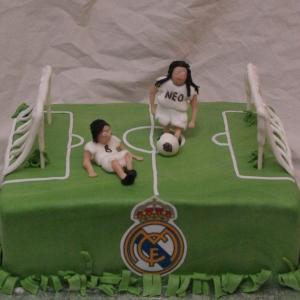 voetbal real madrid taart