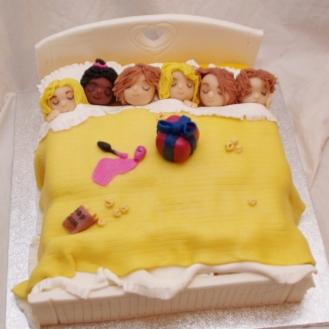 pyama party taart