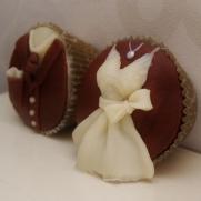 his en hers bruiloft cupcakes
