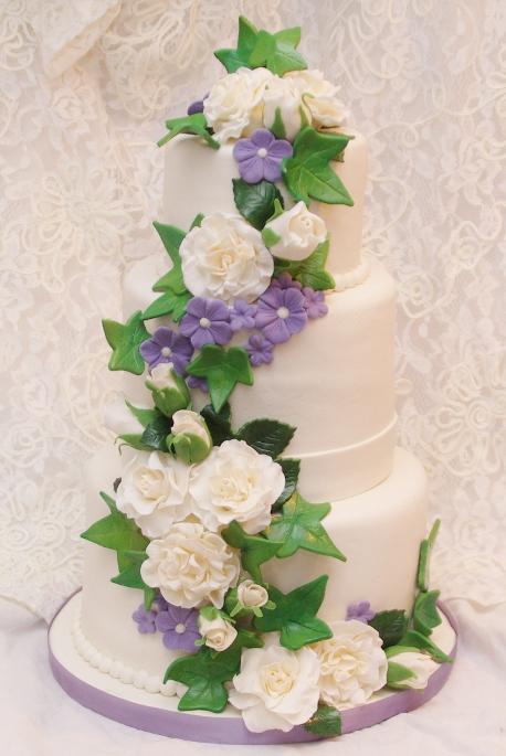 bruidstaart n.a.v. bruidsboeket (12,5 jarig jubileum)