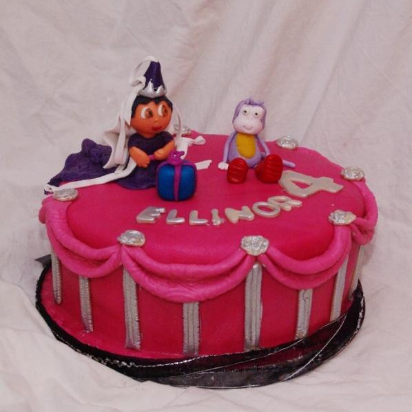 roze prinsessen dora taart