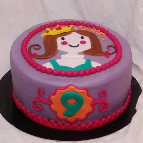 prinses puzzelplaatje taart