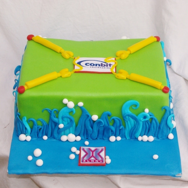 zakelijke taart xlnn's corporate cake
