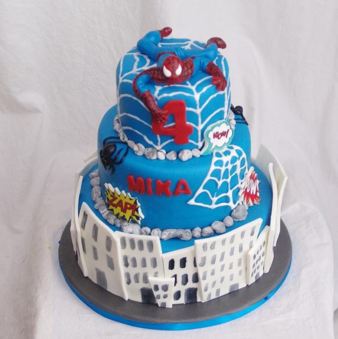Fabulous spiderman taart @LZ-54