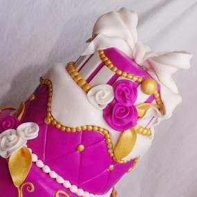 kleurrijke bruidstaart
