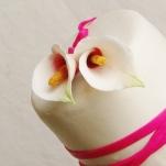 bruidstaart met gumpaste calla's