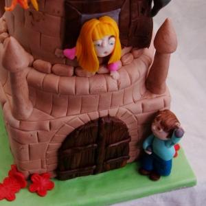 draak / kasteel / prinses taart