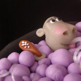 hippo in tub