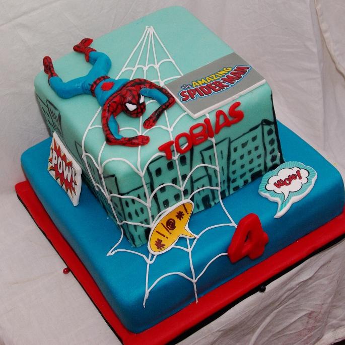 Bekend spiderman taart AW-02