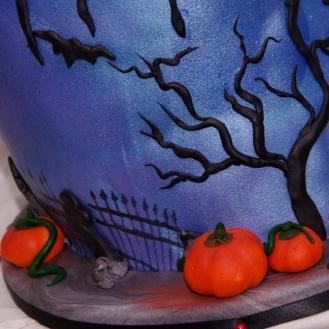 detailfoto halloweentaart (meer foto's in 18+ galerij)