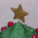kerstmis chocolate mudcake taart in de vorm van een kerstboom