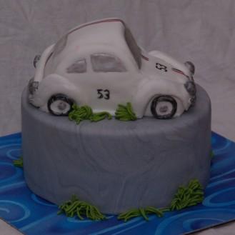 volkswagen beetle herbie cake