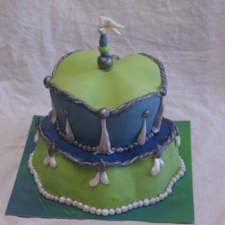 margaret braun like cake green blue