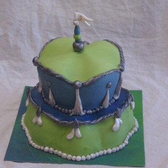 margaret braun like cake green blue