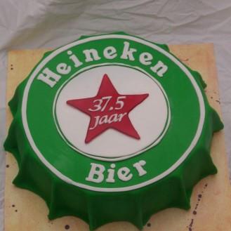 Heineken bier kroonkurk taart