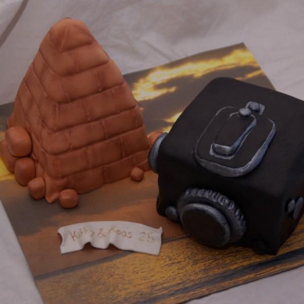 piramide en fotocamera hasselbad mini taartjes