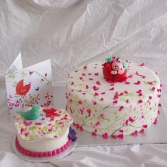 geboortekaartje taart met bijpassend meppertje rotterdam nesselande