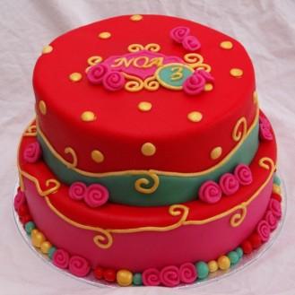 oilily achtige pip studio achtige vrolijke stapel taart bestellen TAART&kUNST rotterdam nesselande