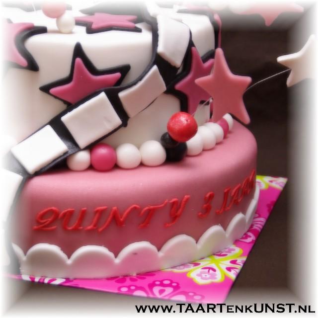 roze hollywood / sterren taart