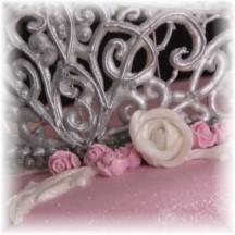 zilveren tiara van royal icing