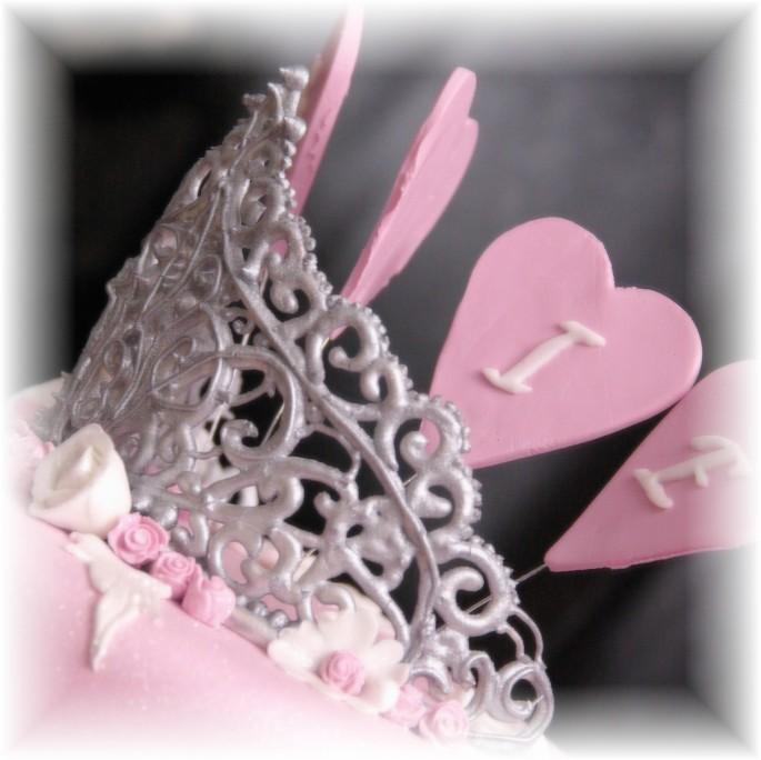 eetbare tiara van royal icing